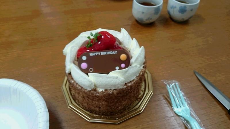 柴柳先生からの誕生日ケーキ